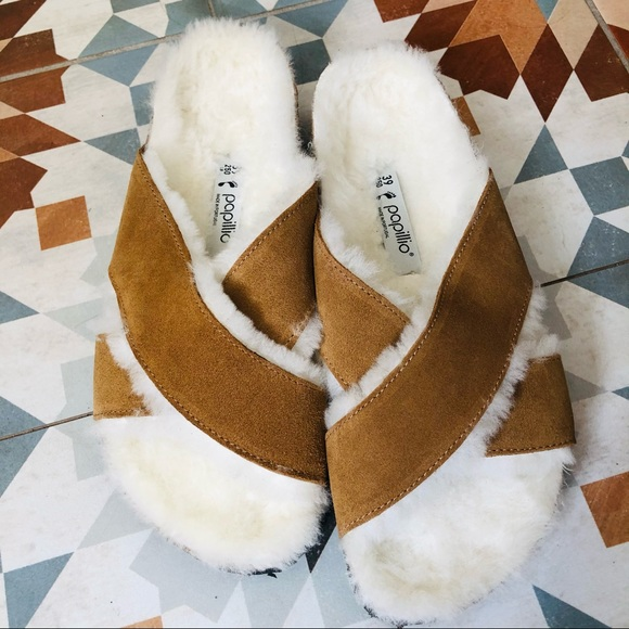 Birkenstock // Genuine Shearling Platform Sandal